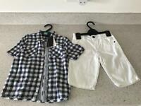 BNWT M&S Autograph Kids Shirt/Short Set (RRP £18)