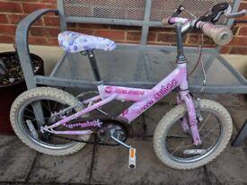 Girl's Bike age for age range 4-7