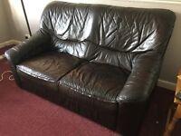 High quality German leather armchair and sofa