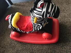 Little Tikes Zebra rocker and ride on