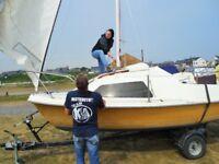 Ready to sail Sailing Boat Skipper 17 trailer sailor twin drop keel cabin furling jib £1150 ONO
