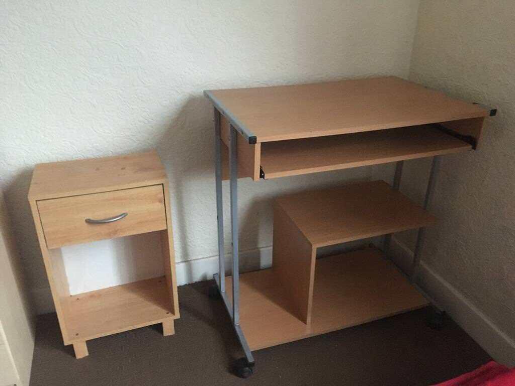 Desk and bedside