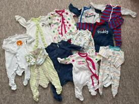 Newborn baby vests and grows bundle