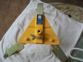 STRONGHOLD Security Wheel Clamp 10-12 inches. Also BRADLEY Tow ball Lock
