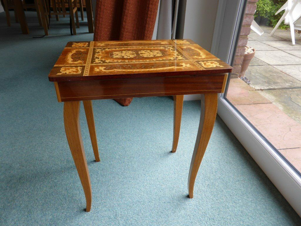 A lovely musical sewing tablebox with inlaid wood lid  : 86 from www.gumtree.com size 1024 x 768 jpeg 165kB