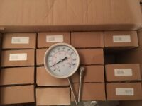 16no Stainless Steel Bi-Metallic Thermometers