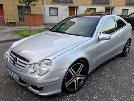 mercedes c220 cdi Coupe sport 2005 panoramic roof fsh