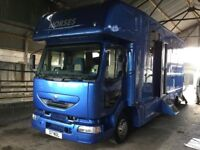 Immaculate 7.5t horsebox -horse lorry -nearly 2t payload