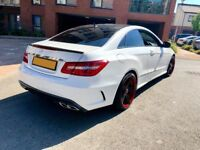 White Mercedes E-Class AMG Coupe - E63 Replica Show Car, £££s spent, 10k of options, one of a kind