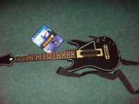 PS4 GUITAR HERO WIRELESS GUITAR CONTOLLER WITH SHOULDER STRAP, DONGLE & GAME