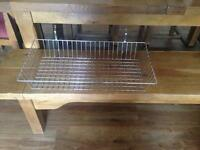 4 slat wall baskets and assorted hooks