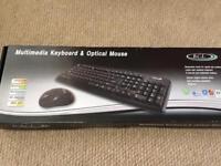 Multimedia Keyboard & optical Mouse (Boxed, Unused)