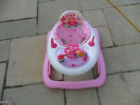 Baby Walker Pink & white