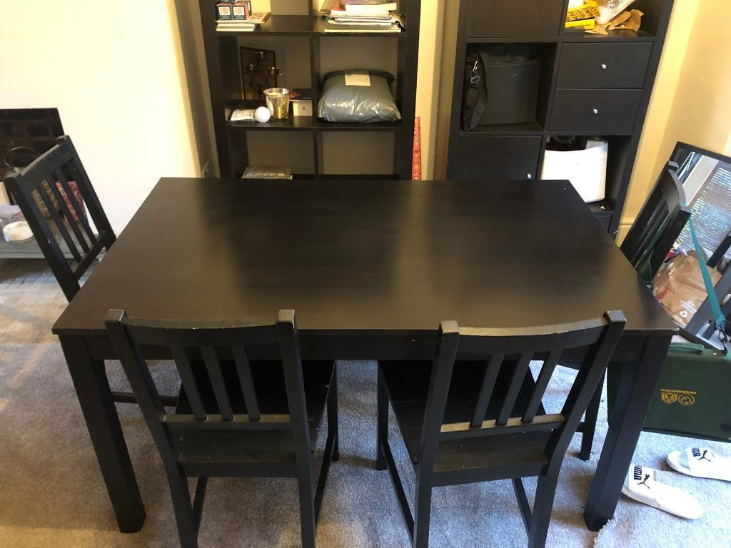 Fine Ikea Dark Brown Dining Table And Chairs In Chorlton Manchester Gumtree Download Free Architecture Designs Ferenbritishbridgeorg