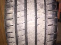 Michelin 285/30/20 part worn tyre