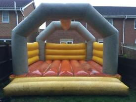 15x15 bouncy castle and a 1.5 hp blower