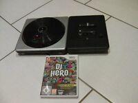 Wii DJ Hero Turntable & Game