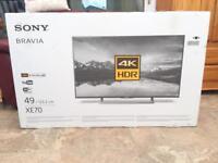 Sony Bravia 49 inch 2160p 4K Ultra HD UHD LED TV ★ Netflix/YouTube/BBC iPlayer 📦 Boxed 📦