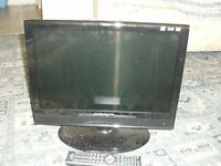 Daewoo 19 inch LCD colour television with DVD player