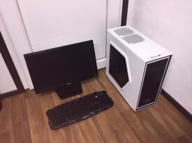 Gaming Computer PC With 22 inch Monitor Complete Setup (Quad Core, 5GB RAM, 500GB , GTX 750 Ti)