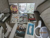 Nintendo WII Console plus WII Fit ,games docking station and numerous accessories