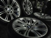 "18"" Genuine mv2 M SPORT bmw Alloys Wheels 5 Series Vw T5 E60 E46 e30 e39 z3 z4"