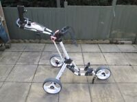 golf locker quick fold 2.0 3 wheel push trolley.