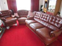 3 piece leather sofa.