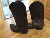 Brown cowboy boots