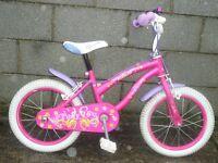 girl bike 16'' pink polly