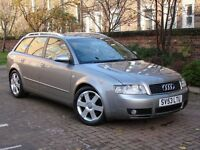 EXCELLENT EXAMPLE 4X4!!! 53 REG AUDI A4 AVANT 1.8 T SPORT 5DR QUATTRO MANUAL, 1 YEAR MOT, WARRANTY