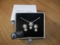 Philip Jones necklace and earring set - boxed and new