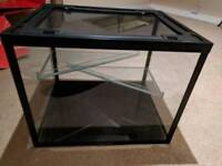 Critters Choice Aquarium Glass Small Animal Pet Hamster Gerbil Tank Cage with floors