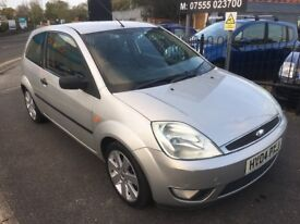 2004 FORD FIESTA 1.4 LIMITED EDITION SILVER 3DR FULL BLACK LEATHER