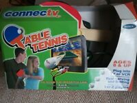 table tennis plug & play interactive TV game by XaviX technology for 1 or 2 players