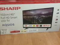 New sharp Smart hd tv + official warranty