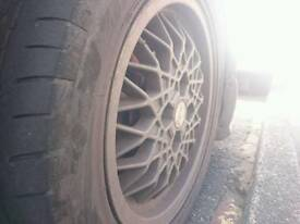 15 inch BBS alloys, bridgestone potenza tires, all around good tred