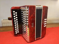 German-made B/C 21-button 8 bass accordion/melodeon