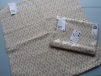 2x BNWT H&M pure coton cushion covers 50x50cm. Beige and cream neutral.