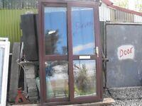 Sliding PVC Mahogany Door for SaE