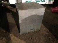 Metal coal bunker