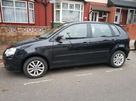 Volkswagen POLO 2007 Manual 5 Doors , Full service , 2 owner, BLACK .