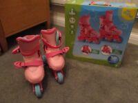 Girls Adjustable Skates (Age 4-6 / Size 9-12)
