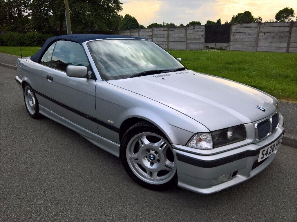 1999 bmw e36 328i se 3 series m sport cabriolet convertible 2 8l manual silver 12 months mot. Black Bedroom Furniture Sets. Home Design Ideas