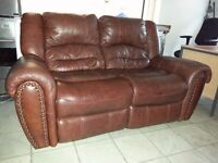 top quality italian 2 setter recliner & armchair recliner. excellent condition.