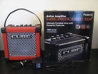 Roland Micro Cube GX Electric Guitar Amplifier in Red