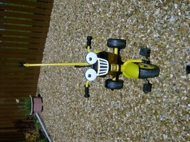 3 wheeled Bob the Builder bike and Scooter