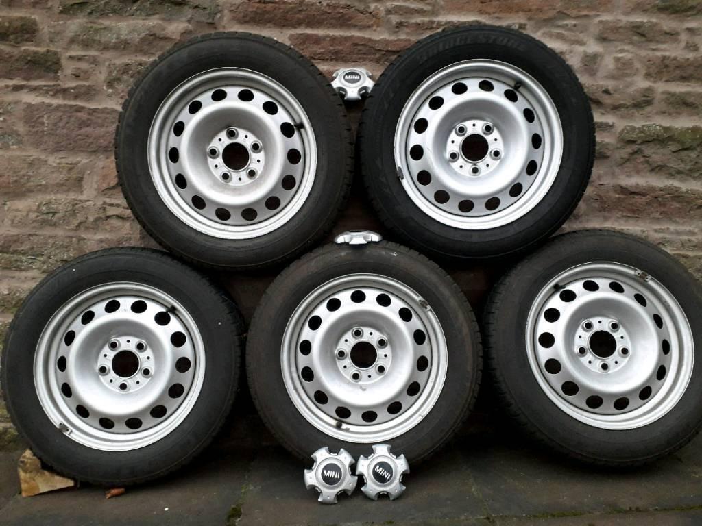 Mini Countryman winter tyres on steel wheels