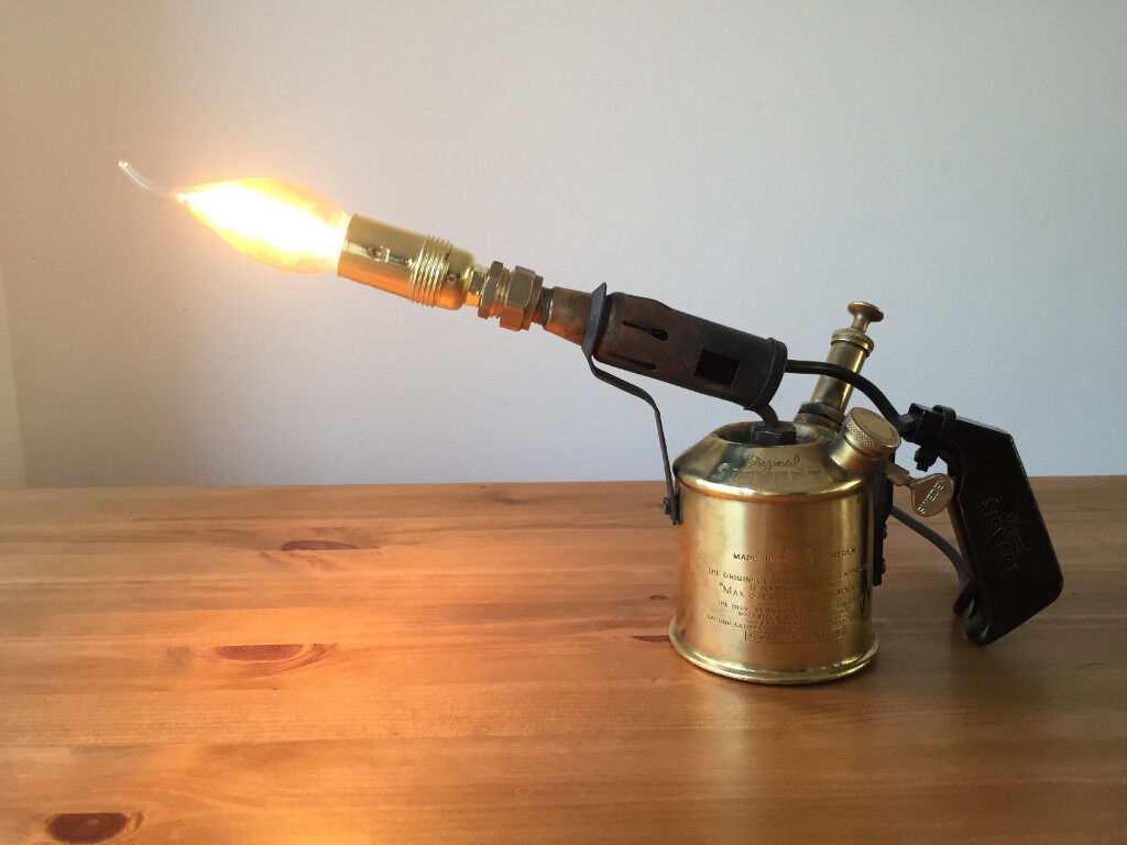Industrial chic man cave blow torch lamp a great father for Industrial floor lamp gum tree