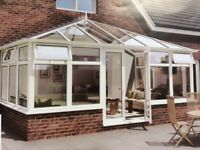 Brand New-In packaging - 4.5m x 4m white PVCu Edwardian Conservatory